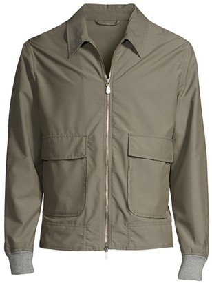 Eleventy Loro Piana Wool Cargo Bomber Jacket