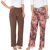 As Is Attitudes by Renee Regular Printed & Solid Knit Pants Set