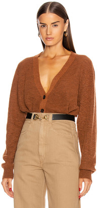 Acne Studios Alpaca Cardigan in Cognac Brown | FWRD