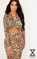 PrettyLittleThing Shape Lexis Leopard Print Co-ord Top