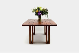 """Artless Occidental Outdoor Solid Wood Dining Table Size: 30"""" H x 108"""" L x 48"""" W"""