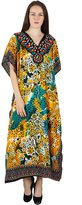 ibaexports African Polyester Kaftan Hippy Plus Size Beach Tunic Coverup Caftan