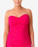 Anne Cole Plus Size Twist-Front Tankini Top Women's Swimsuit
