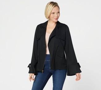 Laurie Felt Drape Front Jacket