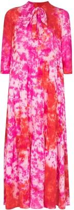HONORINE Tie-Dye Print Flared Dress