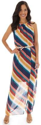 Apt. 9 Women's Pleated Neckline Halter Maxi Dress