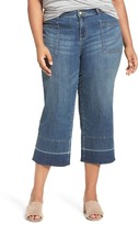 Caslon Released Hem Crop Jeans (Blue Chroma) (Plus Size)