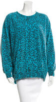 Pierre Balmain Distressed Leopard Print Sweater