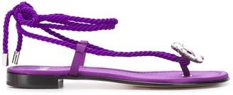 ALEVÌ Milano Mira satin sandals