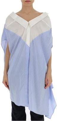 Unravel Project Lace-Up Striped Blouse