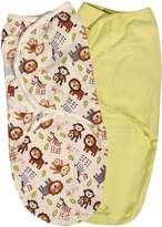 """Summer Infant Summer SwaddleMe """"Animal Friends"""" 2-Pack Infant Wraps - colors as shown, one"""