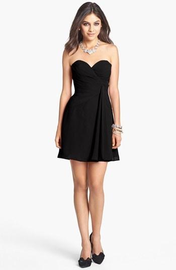 Faviana Strapless Chiffon Dress