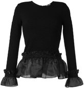 Opening Ceremony ruffle hem and cuff top