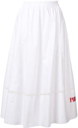 Philosophy di Lorenzo Serafini logo embroidered maxi skirt