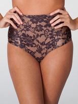 American Apparel Lace Print Nylon Tricot High-Waist Swim Brief