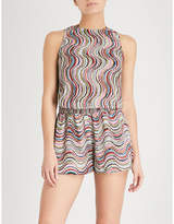 Missoni Wave-patterned woven playsuit