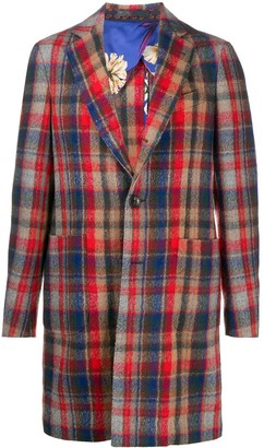 Etro Tartan Wool Coat