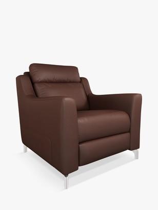 John Lewis & Partners Elevate Leather Armchair, Metal Leg