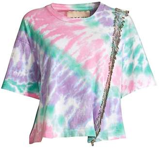 Riley Tie Dyed Safety Pin Cropped Tee