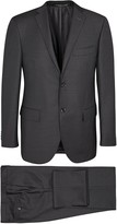 Corneliani Dark Grey Super 110's Pinstriped Wool Suit
