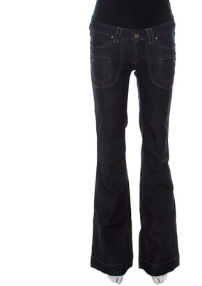 Barbara Bui Indigo Denim Low Rise Flared Jeans S