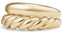 David Yurman Pure Form 18K Stacking Rings, Set of Two, Size 6