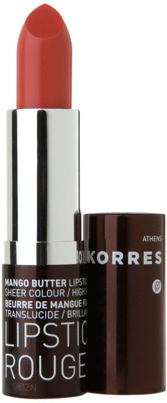 Korres Mango Butter Lipstick, 12 Frost Pink 0.12 oz (3 ml)