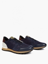 Valentino Blue Leather Running Sneakers