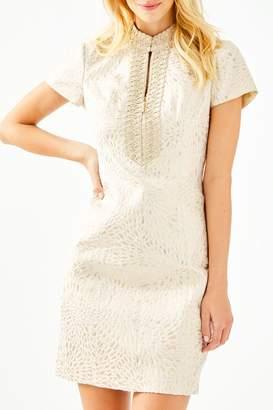 Lilly Pulitzer Adrena High-Collar Shift-Dress