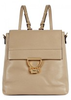 Coccinelle Arlettis Taupe Leather Backpack