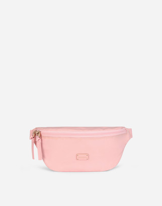 Dolce & Gabbana Solid-Colour Nylon Belt Bag With Branded Tag
