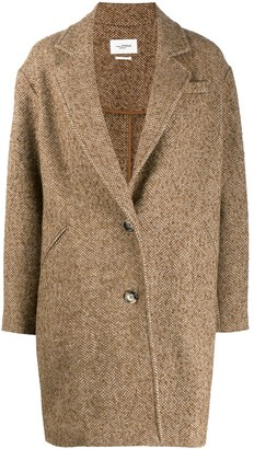 Etoile Isabel Marant Single Breasted Herringbone Coat
