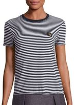 RED Valentino Cotton Striped Tee