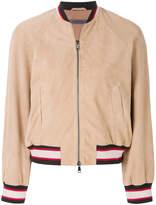 Simonetta Ravizza contrast trim bomber jacket