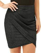 LIUMILAC Pageant Women Skirt Sexy Irregular Hem Bodycon Super Comfy LA003-1 XL