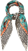 Valentino Framed floral-print scarf