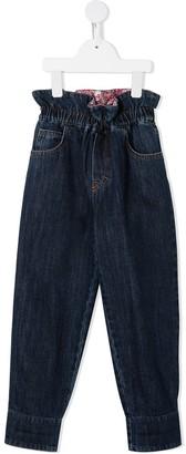 Philosophy Di Lorenzo Serafini Kids Tapered High-Waist Jeans