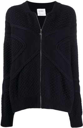 Barrie Zipped Knitted Cardigan