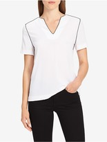 Calvin Klein V-Neck Piped Top