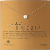 "Dogeared Pearls of . . . Friendship"" -Plated Silver and Freshwater Cultured Pearl Necklace, 18.75"""