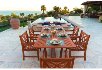 Surfside Eco-friendly 7-piece Eucalyptus Wood Outdoor Dining Set with Extension Table by Havenside Home