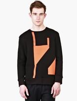 Cmmn Swdn Black Velvet-Motif Cotton 'Clayton' Sweatshirt
