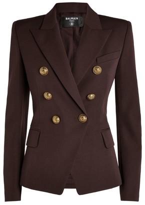 Balmain Buttoned Grain De Poudre Jacket