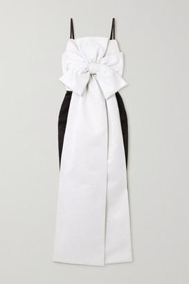 Emilia Wickstead Melby Bow-detailed Two-tone Metallic Cloque Gown - Black