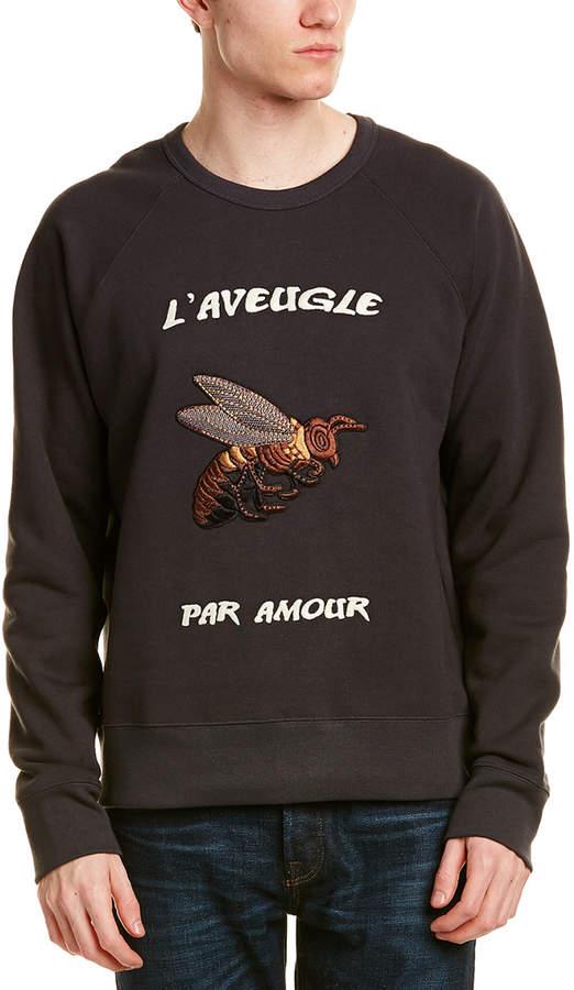 Gucci Bee Applique Cotton Sweatshirt
