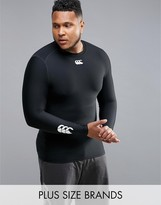 Canterbury of New Zealand Plus Thermoreg Baselayer Long Sleeve Top In Black E546845-989