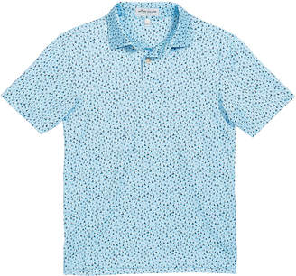 Peter Millar Boy's Ridley Sailboat-Print Stretch Jersey Polo Shirt, Size XXS-XL