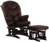 Dutailier Ultramotion Brown Microfiber Sleigh Glider Chair/ Ottoman