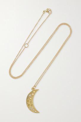 Brooke Gregson Crescent 14-karat Gold Diamond Necklace