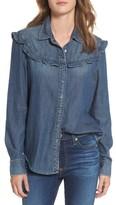 AG Jeans Women's Joanna Ruffle Denim Shirt